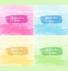 Four background in watercolor texture vector