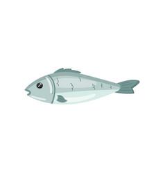 Fresh sea fish seafood cartoon vector