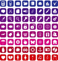 general icons vector image