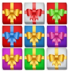 Gift box set Top view vector image