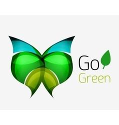 Go green abstract nature logo vector