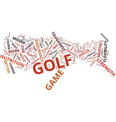Golf facts that will change your game text vector