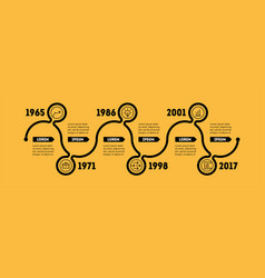 horizontal infographic timeline business concept vector image