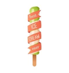 Icecream badge food logo vector image