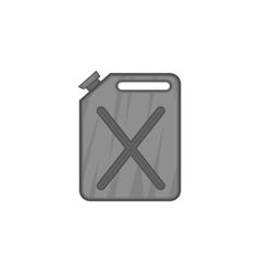 Jerrycan icon black monochrome style vector image vector image