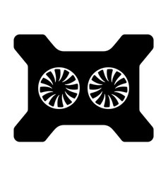 Laptop cooling pad vector
