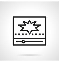 Popular video icon simple line icon vector image vector image