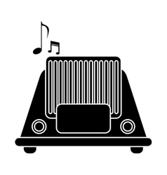 Silhouette radio music communication device vector