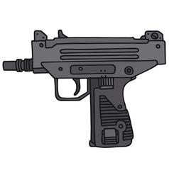 Small automatic gun vector