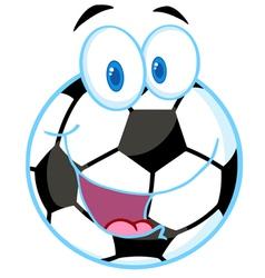 Soccer Ball Cartoon Character vector image vector image