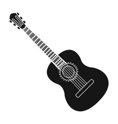 Spanish acoustic guitar icon in black style vector image vector image