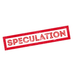 Speculation rubber stamp vector
