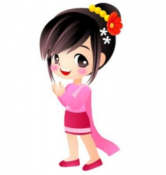 Thai girl vector image vector image