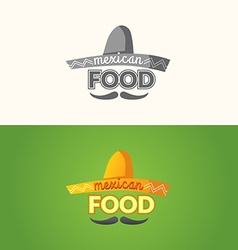 The logo of Mexican food vector image vector image