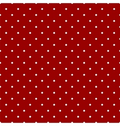 Tile pattern white polka dots dark red background vector image vector image