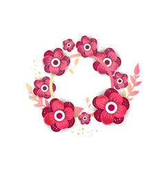 Wedding collection concept floral poster invite vector