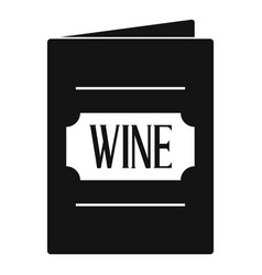 Wine list icon simple style vector