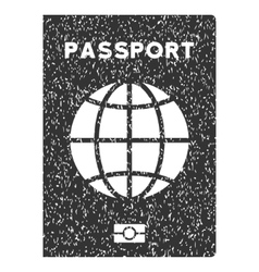 World passport icon rubber stamp vector