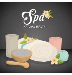 Candle and decoration spa center design vector