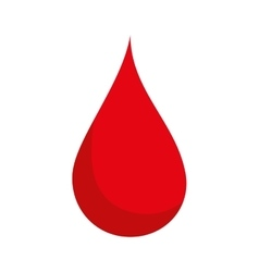 blood drop red vector image