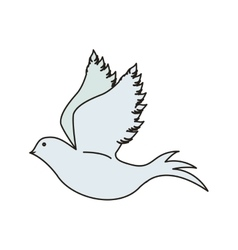 bird animal icon vector image
