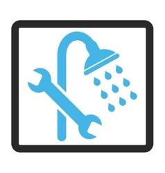 Shower Plumbing Framed Icon vector image