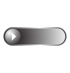 Play long button icon flat style vector