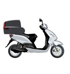 Scooter mock-up vector