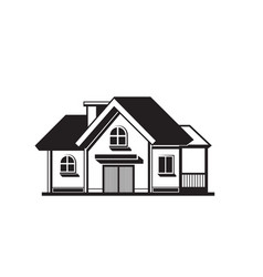 House black icon vector