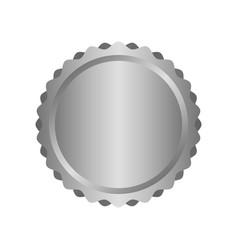 Modern metal silver circle metal badges labels vector