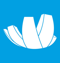 Artscience museum in singapore icon white vector