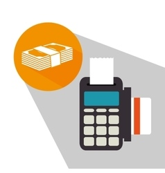 Bank money and online payment vector