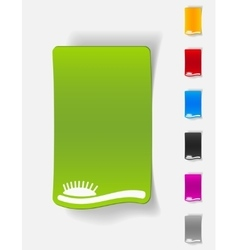realistic design element hair brush vector image