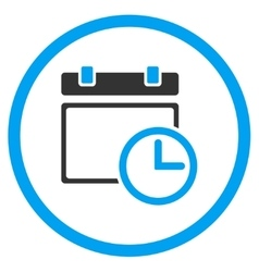 Date and time rounded icon vector