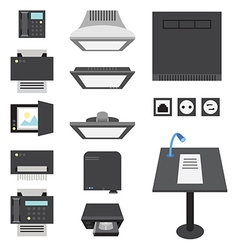 Office and presentation icons vector