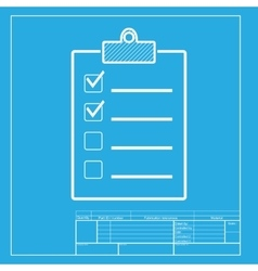 Checklist sign  white section of icon vector