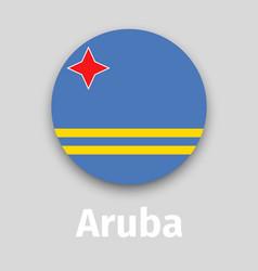 aruba flag round icon vector image vector image