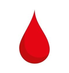 Blood drop red vector
