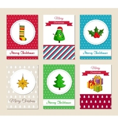 Christmas Holiday Greeting Cards Collection vector image
