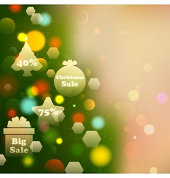 Christmas Offer on Bokeh Effect Background vector image vector image