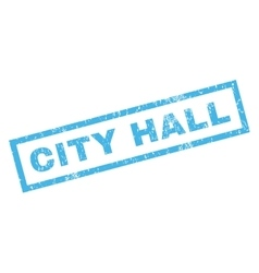 City hall rubber stamp vector