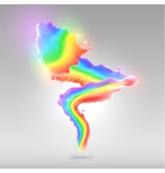 Color rainbow paint splashes for background vector image vector image