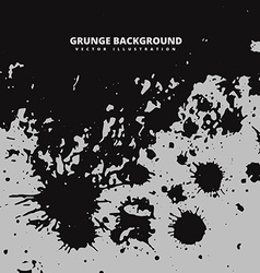 Dark grunge ink splatter background vector