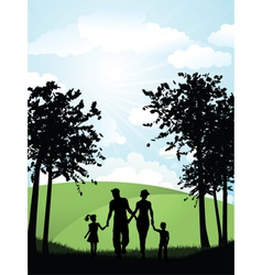 family park vector image vector image
