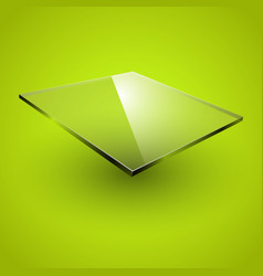 glass framework on green background vector image vector image