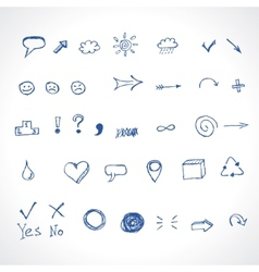 hand drawing icons vector image vector image