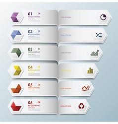 Hexagon geometric shape infographic design vector