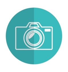 icon photographic camera silhouette blue shadow vector image