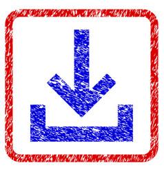 Inbox grunge framed icon vector
