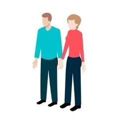 Isometric couple of people vector